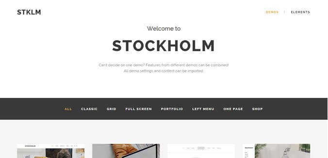 stockholm WP模板