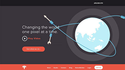 灵感:20个创意设计工作室网站 - 为程序员服务