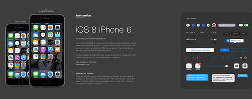 Teehan+Lax iPhone 6 GUI Template