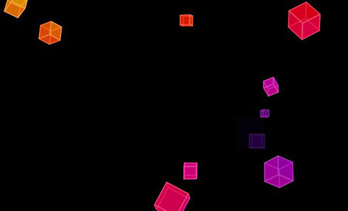 css3 animation effect using cubes
