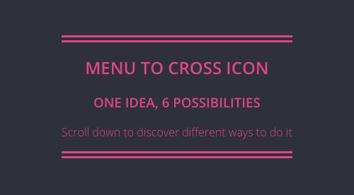 网页汉堡包菜单之关闭按钮的六种玩法