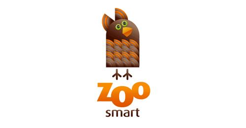 山猴子鸟_40个憨态可掬的动物标志设计 | 设计达人