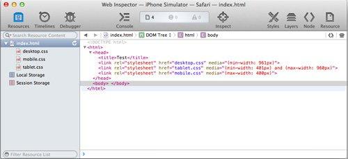 iPhone加载页面引用的CSS文件截图