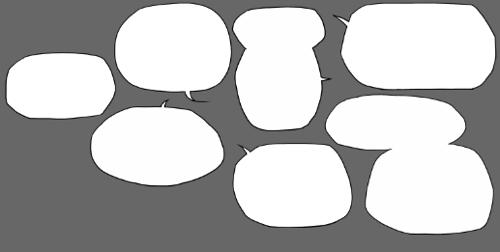 300个卡通漫画对话泡泡 对话框素材下载图片