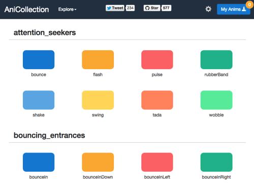 CSS动画集合 可直接生成动画代码 – AniCollection