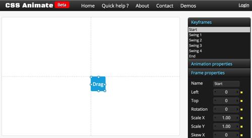 在图形界面上制作CSS3动画:cssanimate