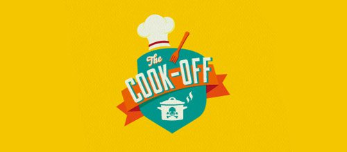 cook off 烹饪logo设计