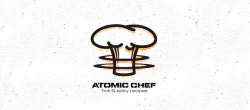 atomic chef hat logo