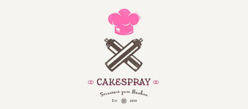 cakespray chef logo