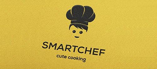 smart chef logo design