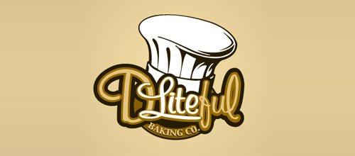 漂亮的食logo设计