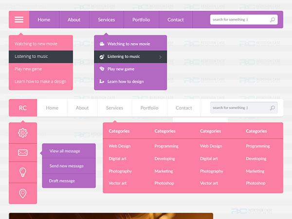 Flat UI Website Accessories