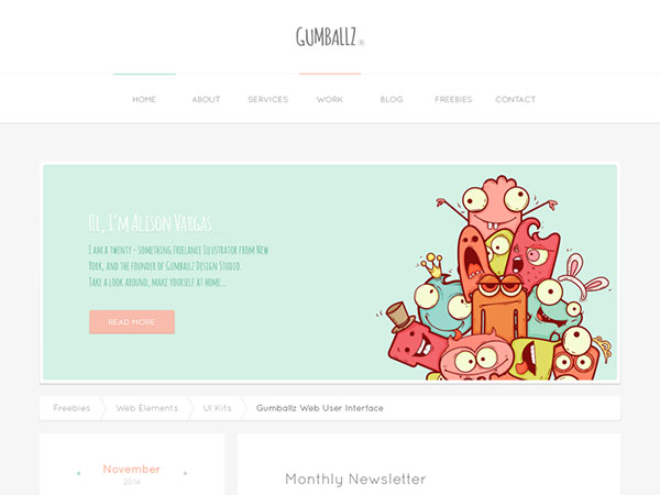 Gumballz Web UI Kit