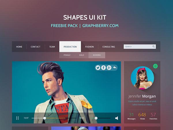 Free Shapes UI Kit