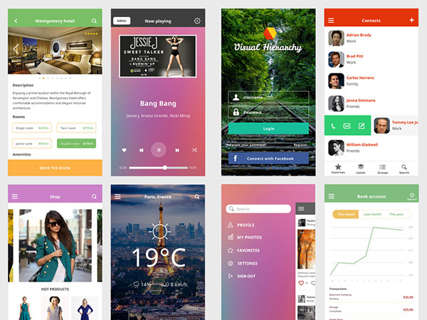 Ace iOS8 Mobile UI Kit Freebie