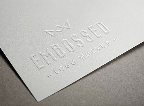Embossed Paper LOGO素材