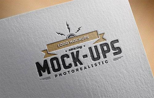 Logo Mockups Paper Edition