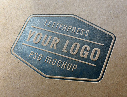 Letterpress LOGO PSD 模板
