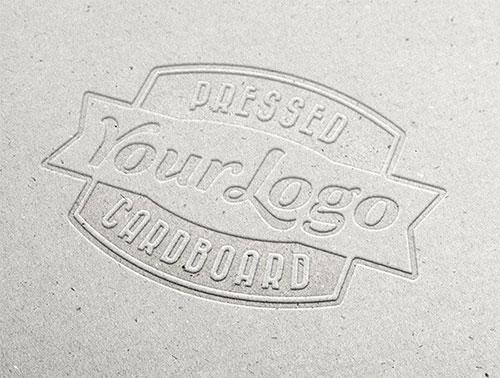 Pressed Cardboard LOGO PSD 模板
