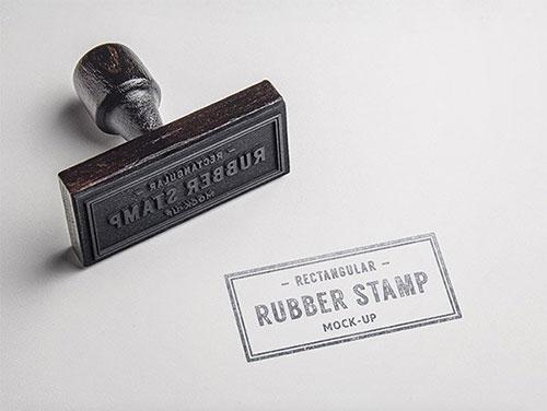 Rubber 印章 LOGO PSD 模板