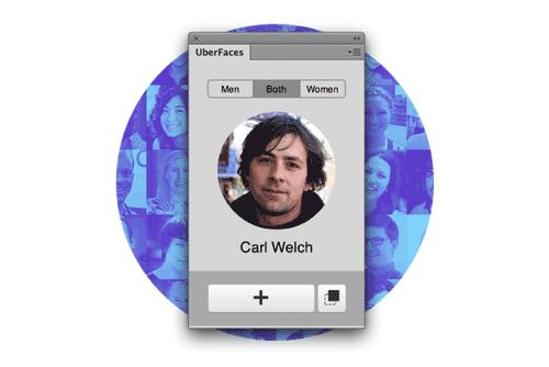 随机生成用户头像的PS扩展插件-uberfaces