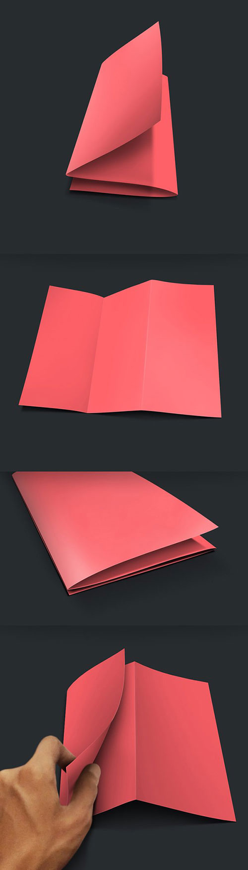 Free Z Fold Brochure Mockup PSD