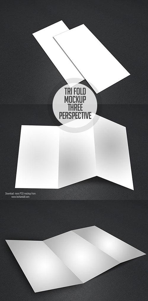 Free PSD Free Tri-Fold Mockup