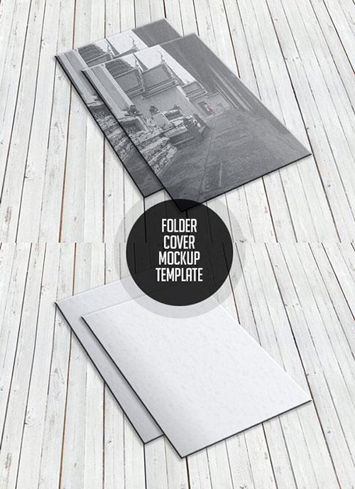 Free Folder Cover PSD Mockup