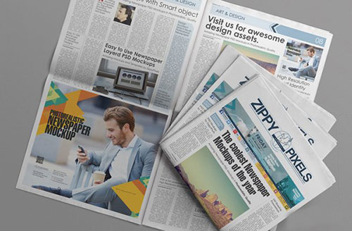 Free PSD Newspaper Advertisement Mockup