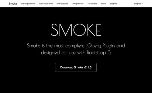 SMOKE插件:为Bootstrap增加表单提醒、页面进度、提醒等功能