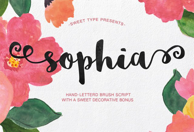 英文字体 Sophia-1-800x546