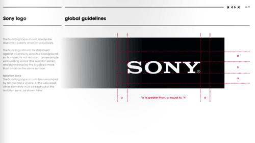 SONY 视觉设计规范