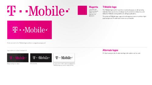 T Mobile 视觉设计规范