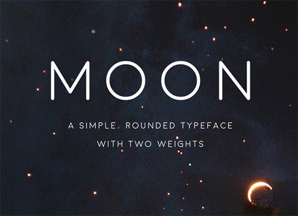 英文字体 Moon