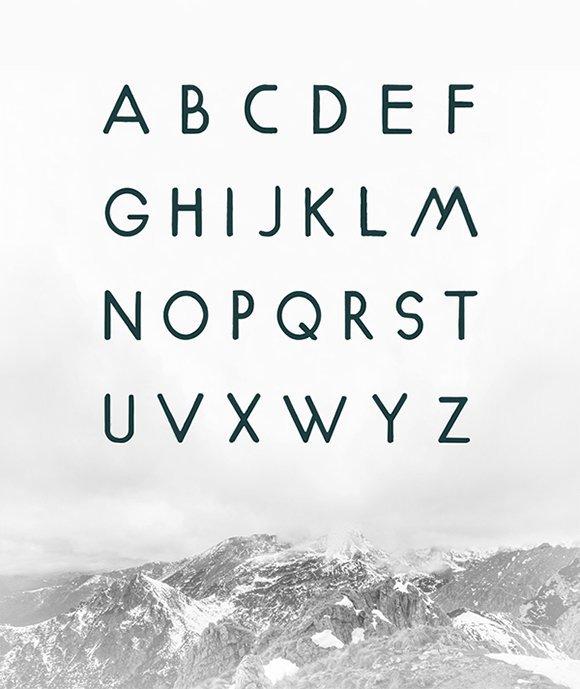 几何英文字体