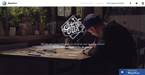 全屏背景网页作品:Esprit-Cox