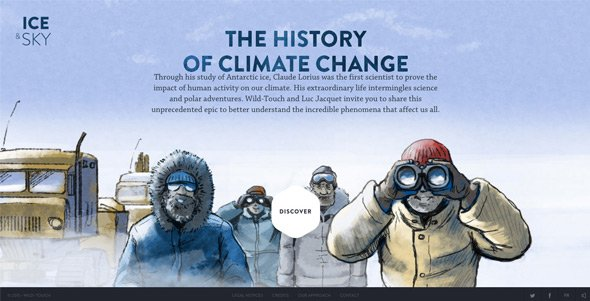 全屏背景网页作品:Ice-and-sky-The-history-of-climate-change