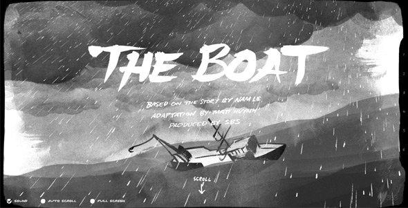 全屏背景网页作品:The-Boat