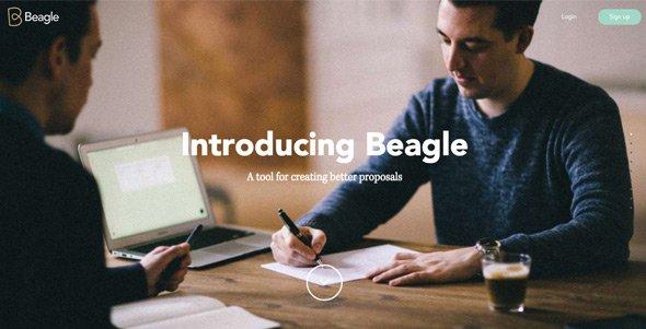 全屏背景网页作品:Beagle---Better-proposals