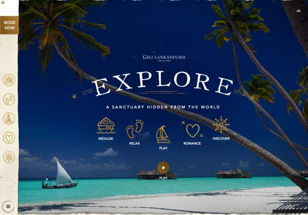 漂亮网页设计:Luxury Resorts
