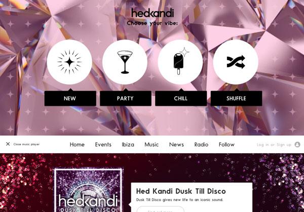 漂亮网页设计:Hedkandi