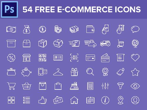 20套购物网站专用的图标素材包