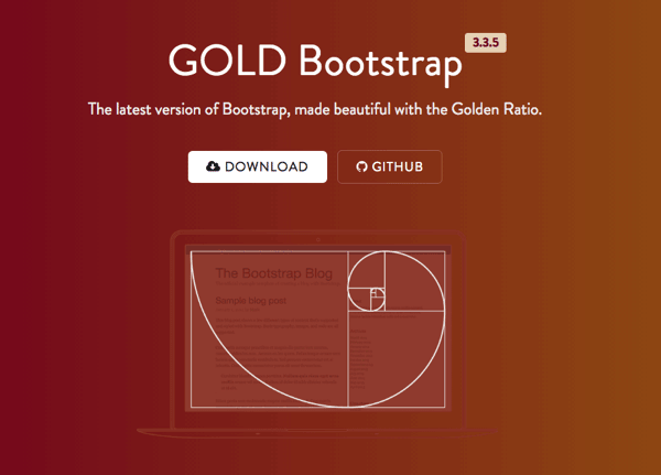 GOLD Bootstrap 黄金比例版