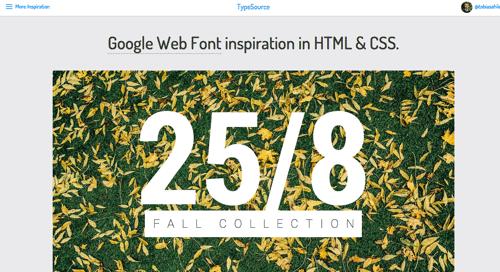 google 网页字体