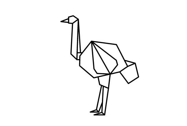 折纸风格的动物图标 svg 格式