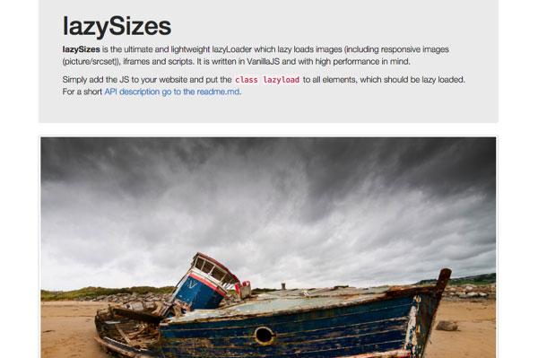 响应式图像延迟加载JS插件:lazySizes