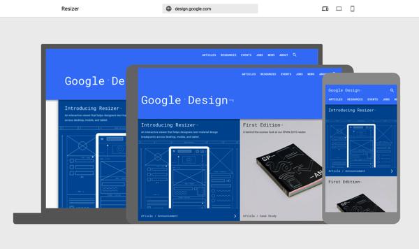 Google Resizer 响应式网页尺寸调整器