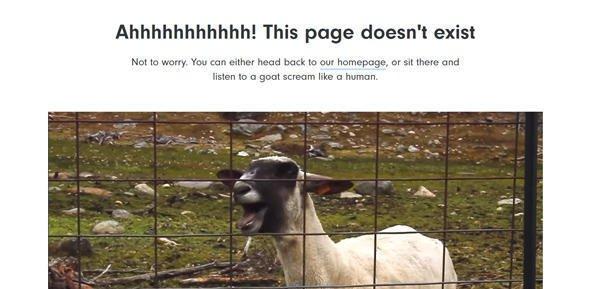 创意幽默的404错误页面设计案例