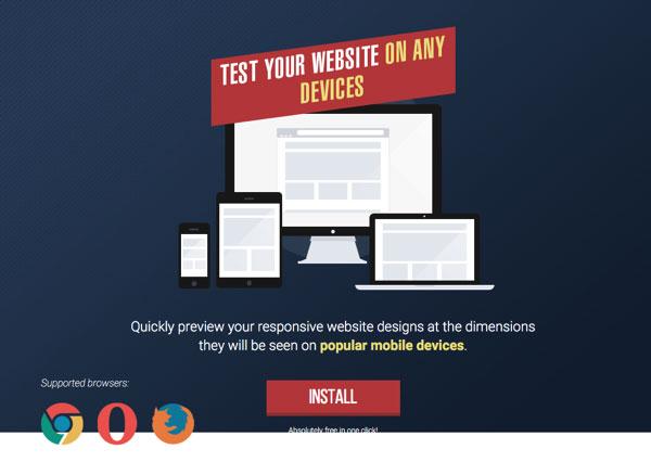 快速测试响应式网页设计的 Chrome 扩展