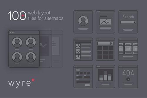 网站布局素材:126个网页 UI 组件素材 – Wyre
